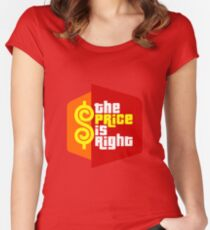 PLINKO THE PRICE IS Women's Fitted Scoop T-Shirt