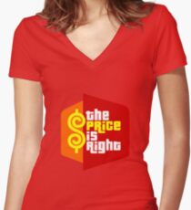PLINKO THE PRICE IS Women's Fitted V-Neck T-Shirt