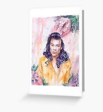 Harry in lilacs Greeting Card