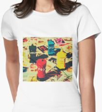 Postage pop art Women's Fitted T-Shirt