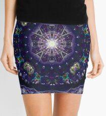 kaleidoscope -winter night sky Mini Skirt