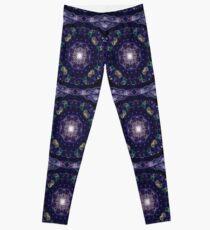 kaleidoscope -winter night sky Leggings