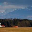 Church of Saint James in the village of Hrase, Slovenia. by Ian Middleton
