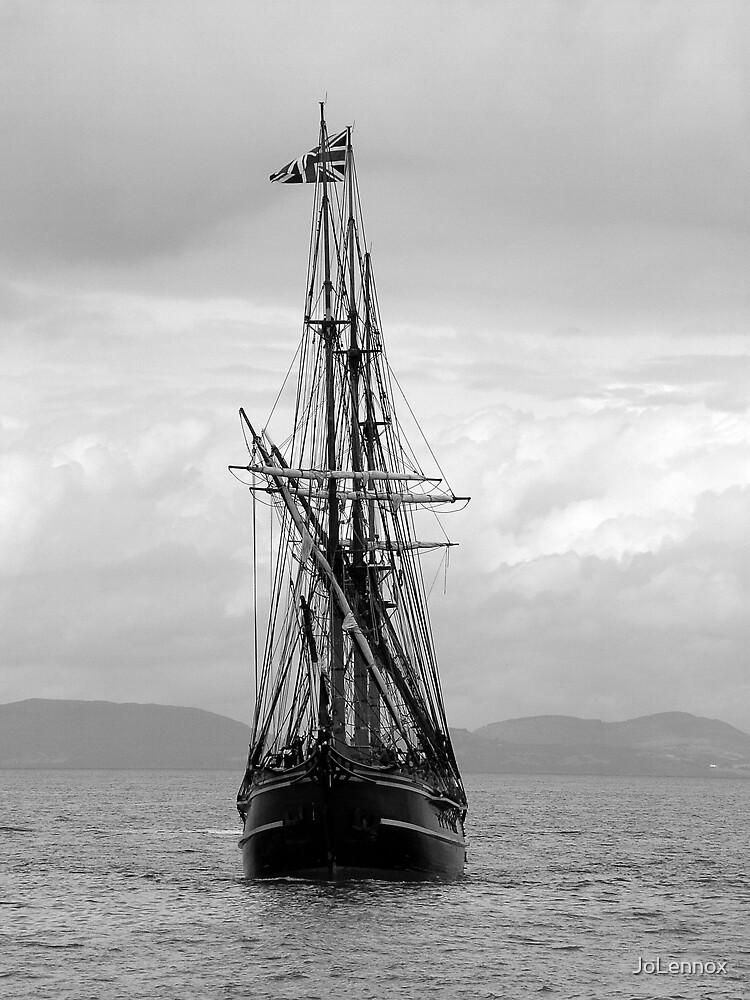Approaching Boat by JoLennox