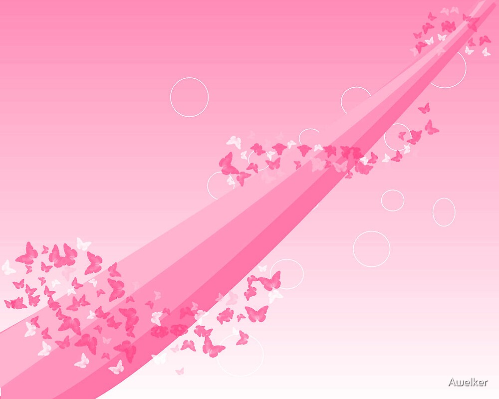 Butterflys Galore Wallpaper  Bright Pink by Awelker