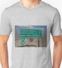 Death Valley Road Sign Unisex T-Shirt