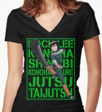Rock Lee  Women's Fitted V-Neck T-Shirt