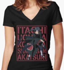 Itachi Uchiha Women's Fitted V-Neck T-Shirt