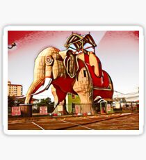 Lucy the Margate Elephant of Atlantic City Sticker