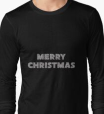 Faux Silver Glitter Merry Christmas T-Shirt