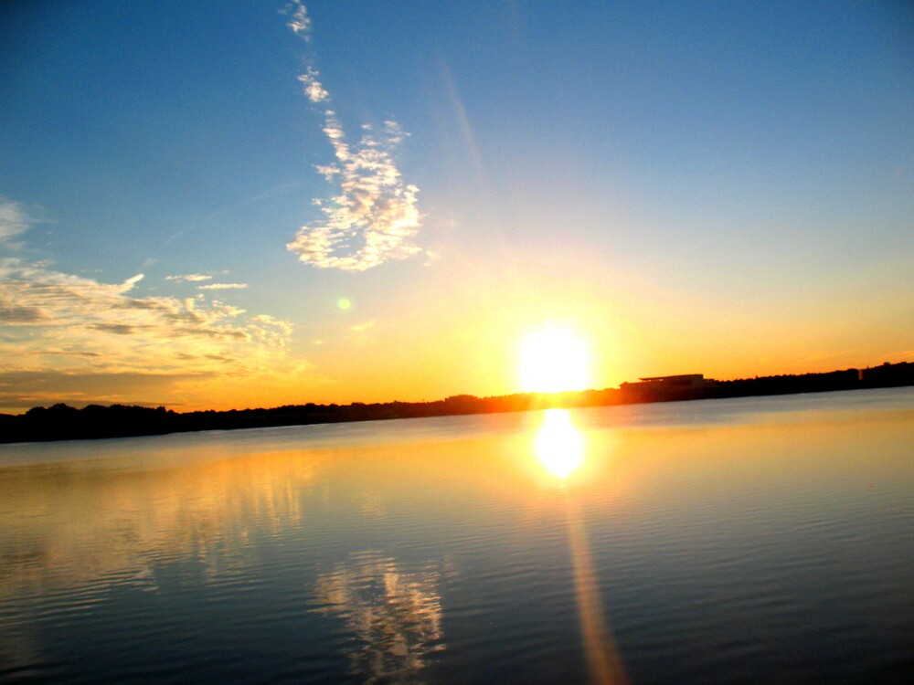 Sunset Over The Lake by Tommy Seibold