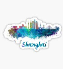 Shanghai V2 skyline in watercolor Sticker