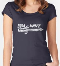 ISSA KNIFE - 21 SAVAGE (white) Women's Fitted Scoop T-Shirt