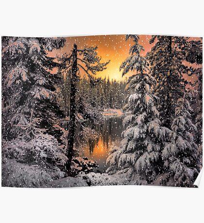 Winter Wounder Land ~ Big Lake ~ Poster