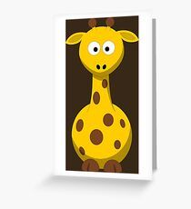 Giraffe Cartoon Drawing - Cute Funny Gift Design For Animal Lover Person - Shirts and Gifts Greeting Card