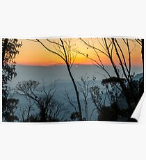 Megalong Sunset (large print) Poster