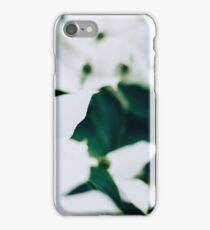 White elegant floral iPhone Case/Skin