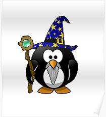The Penguin Wizard Poster