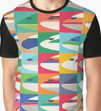 Retro airline nose livery (Pattern Small) Graphic T-Shirt