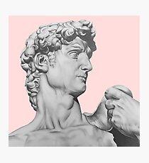 David Statue Drawing Photographic Print