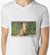Foxing Around Men's V-Neck T-Shirt