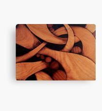 Abstract fantasy marquetry art picture of wood Canvas Print