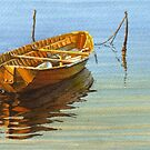Yellow boat by Freda Surgenor