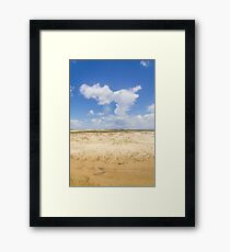 Dunes in Tavares city Framed Print