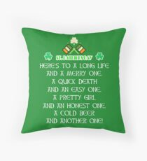 Irish poem T-shirt and gift for Saint patrick's day Throw Pillow