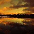 SUNSET ON THE LOCH by leonie7