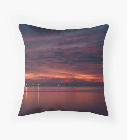 Corio Bay, Portarlington,Bellarine Peninsula Throw Pillow