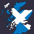 Scotland Flag and Country by HandDrawnTees