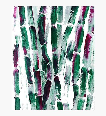 Greenery and Purple Sugar Cane Photographic Print
