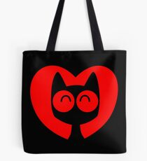 Cute Cartoon Cat In A Heart by Cheerful Madness!! Tote Bag