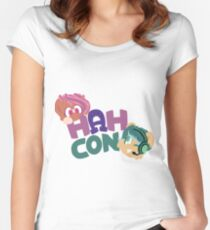 HAHcon with Cozy and Glitch Women's Fitted Scoop T-Shirt