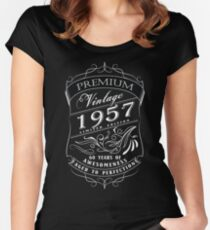 60th Birthday Gift T-Shirt Vintage Limited Born 1957 Edition Women's Fitted Scoop T-Shirt