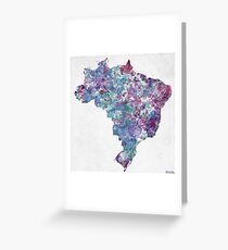 Brazil map Greeting Card