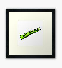cartoon comic book roar  Framed Print