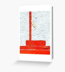Orange & White Abstract Greeting Card
