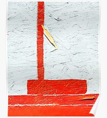Orange & White Abstract Poster