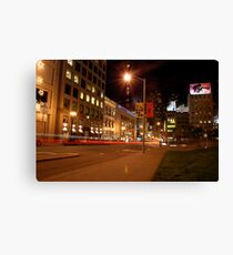 union square @ night Canvas Print