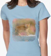 Cute Funny Drolly Ginger Cat Kitten Womens Fitted T-Shirt