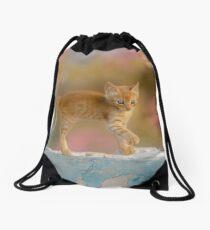 Cute Funny Drolly Ginger Cat Kitten Drawstring Bag