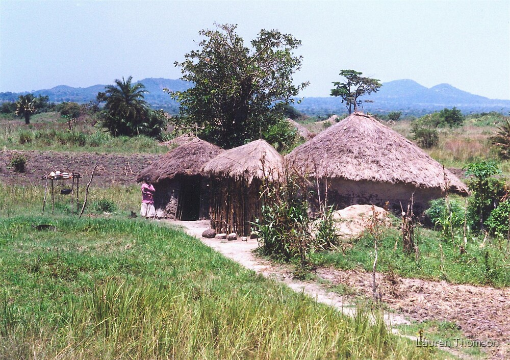 Traditional African Home by Lauren Thomson