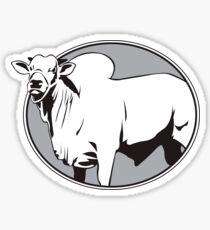 Bull zebu vintage logo Sticker