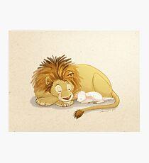 Lion and Lamb Photographic Print