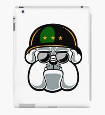 Bulldog Army Mascot iPad Case/Skin