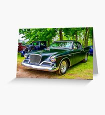1960 Studebaker Hawk Greeting Card