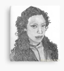 Zoe Washburn from Firefly/Serenity hand drawn in charcoal. Canvas Print