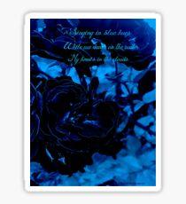 Hues of Blues Haiku Sticker